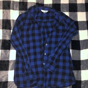 Dark blue flannel